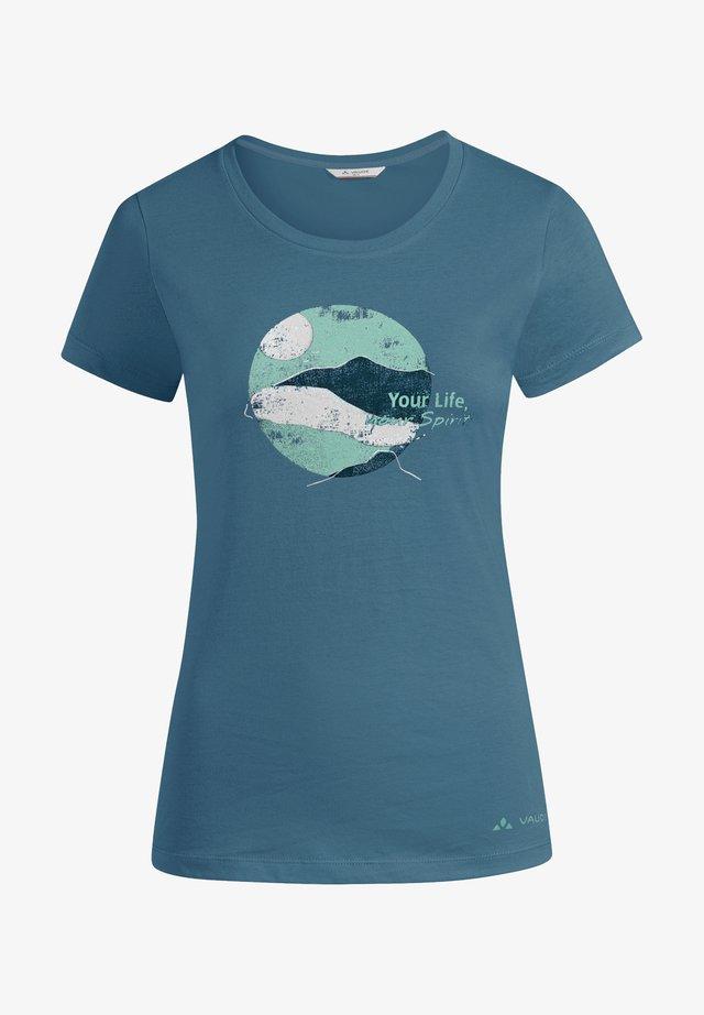 SPIRIT - Print T-shirt - blue gray