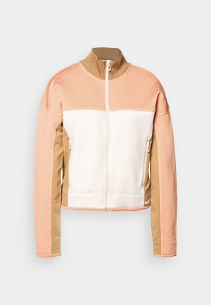 CLUB NOMADE COLOR BLOCK ZIP THROUGH - Zip-up hoodie - camel