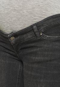 MAMALICIOUS - MLSAVANNA ORGANIC - Jeans Skinny Fit - dark grey denim - 4