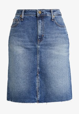 SKIRT - Jeansrock - dark blue denim
