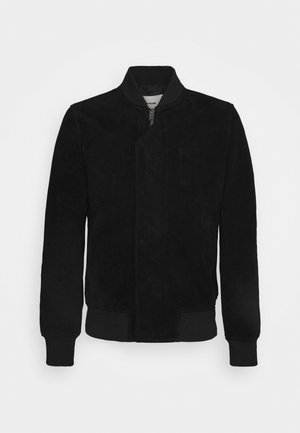 LARKO - Leather jacket - noir
