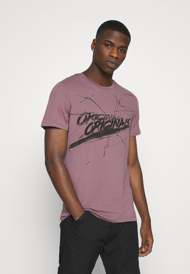 ORGANIC TEE CREW NECK - Print T-shirt - moonscape
