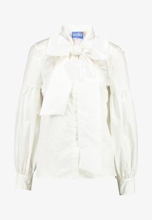 BOW - Button-down blouse - white