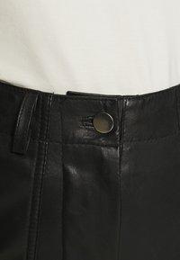 Deadwood - PRESLEY PANTS - Leather trousers - black - 3