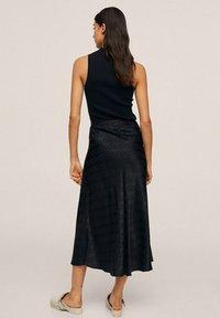 Mango - MIDI - A-line skirt - noir - 2