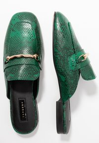 Topshop - LOPEZ BACKLESS LOAFR - Mules - green - 3