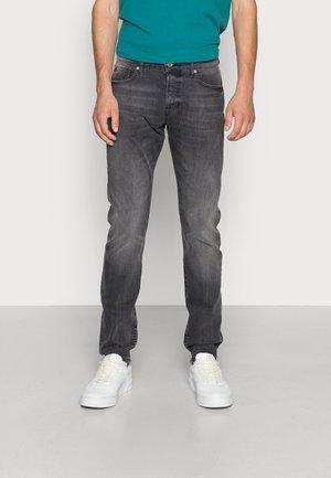 Straight leg jeans - black on blue