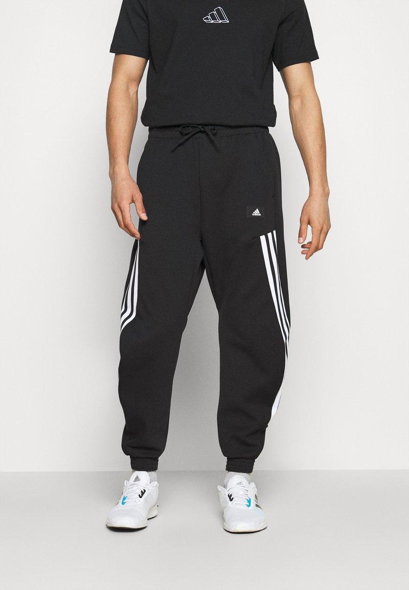adidas Performance - 3-STRIPES O-PANT FUTURE ICONS - Tracksuit bottoms - black