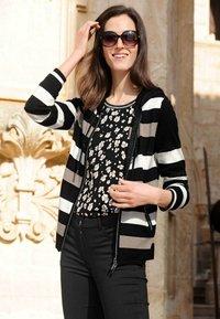 Alba Moda - Zip-up sweatshirt - schwarz,off-white,taupe - 4