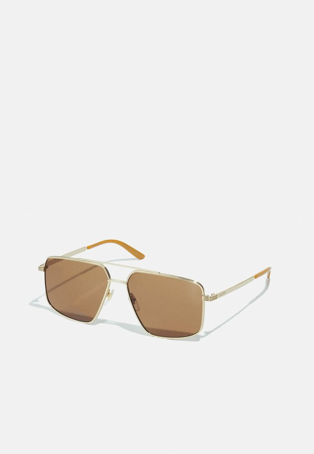 UNISEX - Sonnenbrille - gold-coloured/gold-coloured/brown