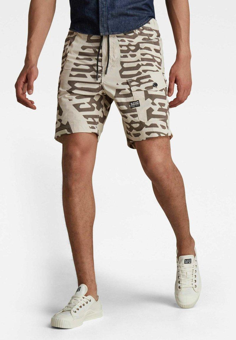 G-Star - FRONT POCKET ARTWORK SPORT - Shorts - whitebait gothic vert