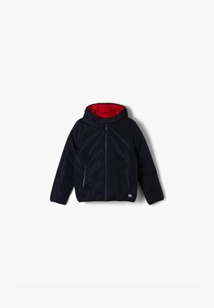 LANGARM - Winterjas - dark blue/red