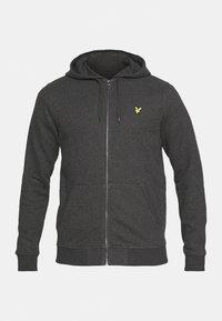 ZIP THROUGH HOODIE - Zip-up sweatshirt - charcoal marl