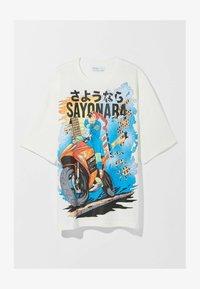Bershka - Print T-shirt - white - 9