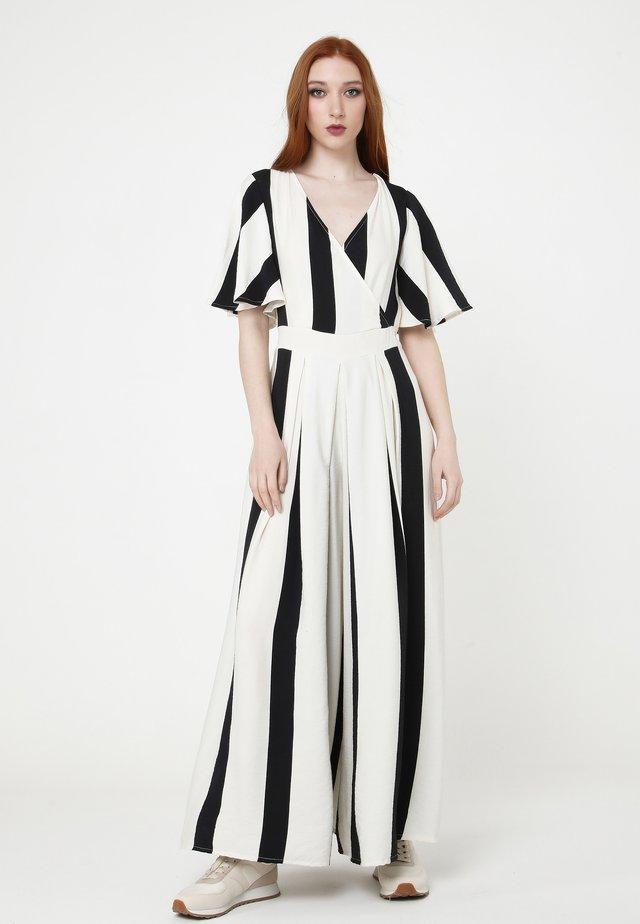 EMILI - Jumpsuit - weiß/schwarz