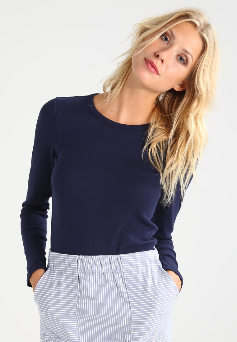 GAP - CREW TEE - Long sleeved top - true indigo