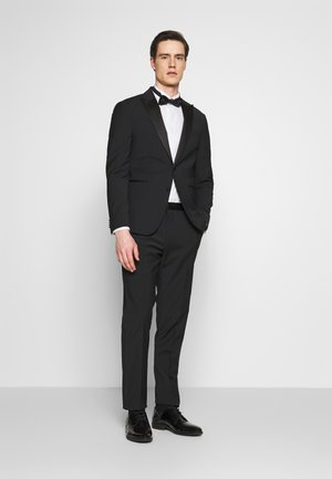 SLIM FIT TUXEDO SUIT - Traje - black