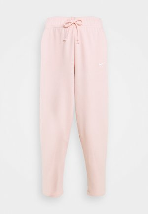 Tracksuit bottoms - pale coral/white