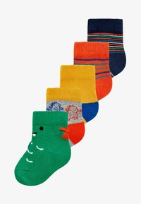 Next - 5 PACK DINOSAUR  - Socks - green - 0