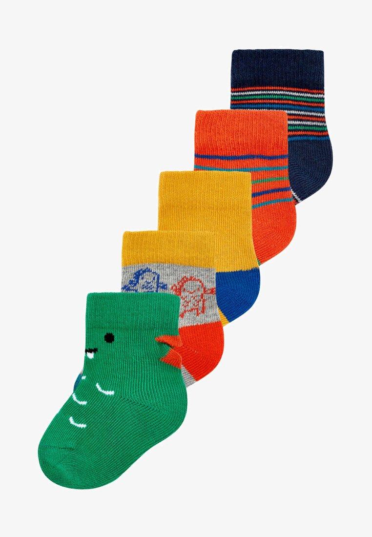 Next - 5 PACK DINOSAUR  - Socks - green