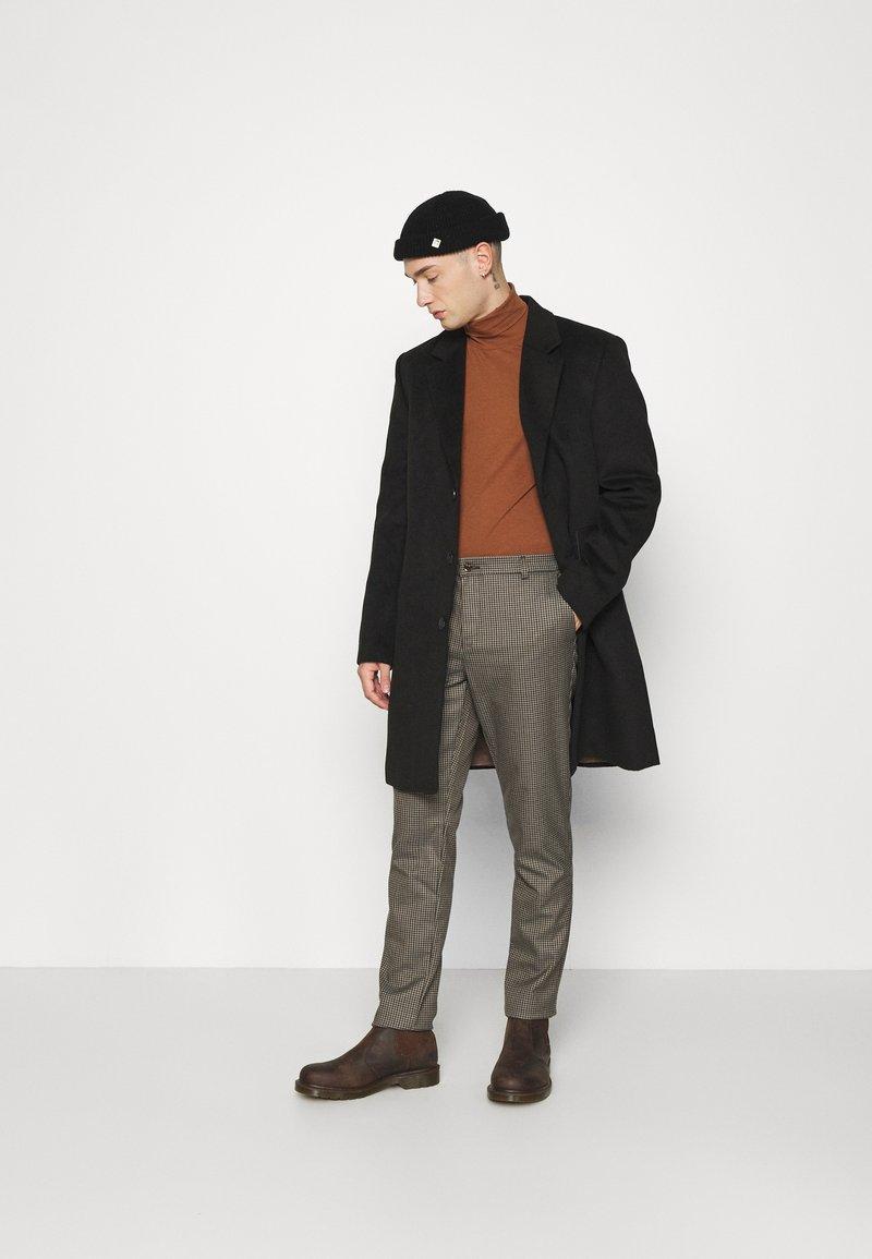 Topman - ROLL NECK 2 PACK - Longsleeve - grey/brown