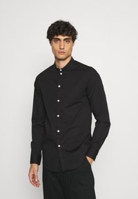 Pier One - MUSCLE FIT - Camicia - black - 0