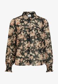 Vila - Button-down blouse - black - 4