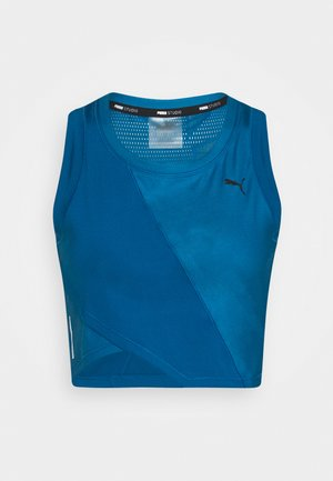 STUDIO CROP - Sports shirt - digi blue