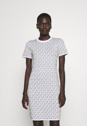 BOLD LOGO - Sukienka dzianinowa - white/black
