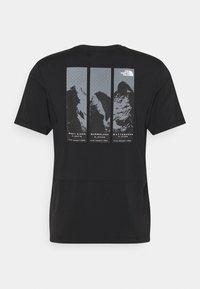 The North Face - GLACIER TEE - Camiseta estampada - tnf black - 6