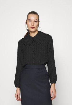 BABETH - Button-down blouse - black