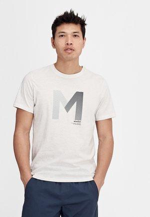 SLOPER - Print T-shirt - bright white melange