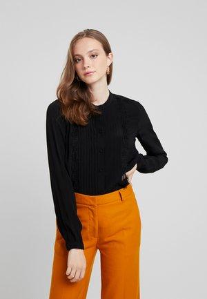 VMAUGUSTA SHIRT - Button-down blouse - black