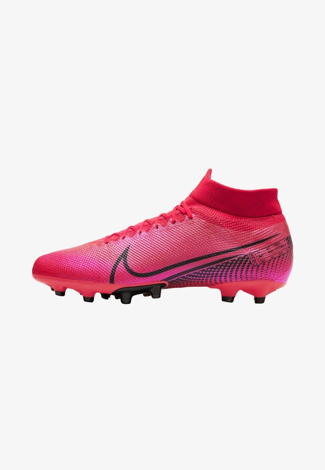 Moulded stud football boots - laser crimson/laser crimson/black