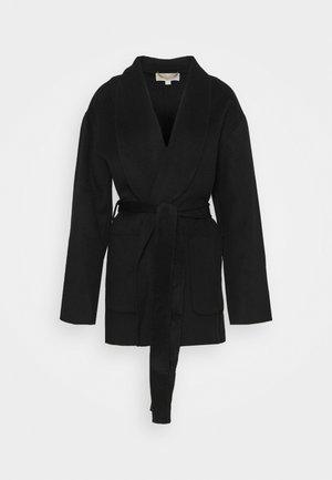 SHAWL COAT - Manteau court - black