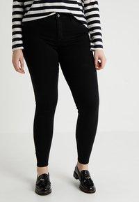 ONLY Carmakoma - CARTHUNDER PUSH UP - Jeans Skinny - black - 0