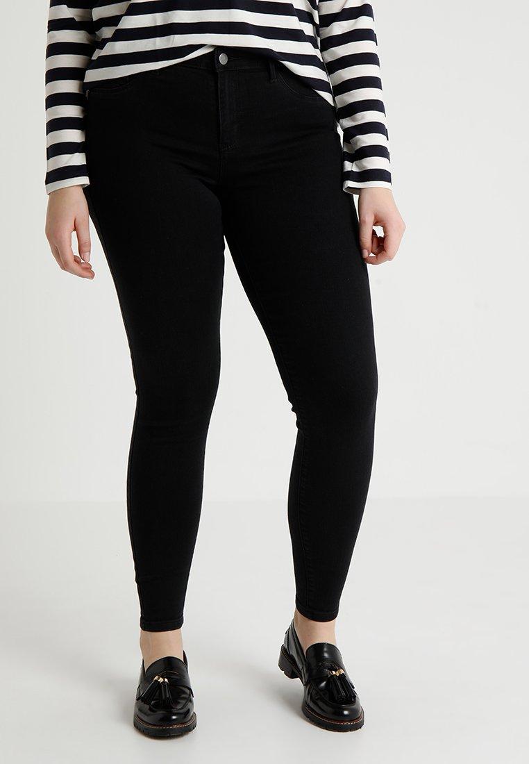 ONLY Carmakoma - CARTHUNDER PUSH UP - Jeans Skinny - black