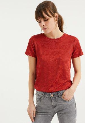 Print T-shirt - vintage red