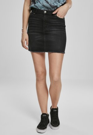 Denimová sukně - real black washed