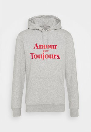 HOODIE AMOUR POUR TOUJOURS - Sweat à capuche - grey/red