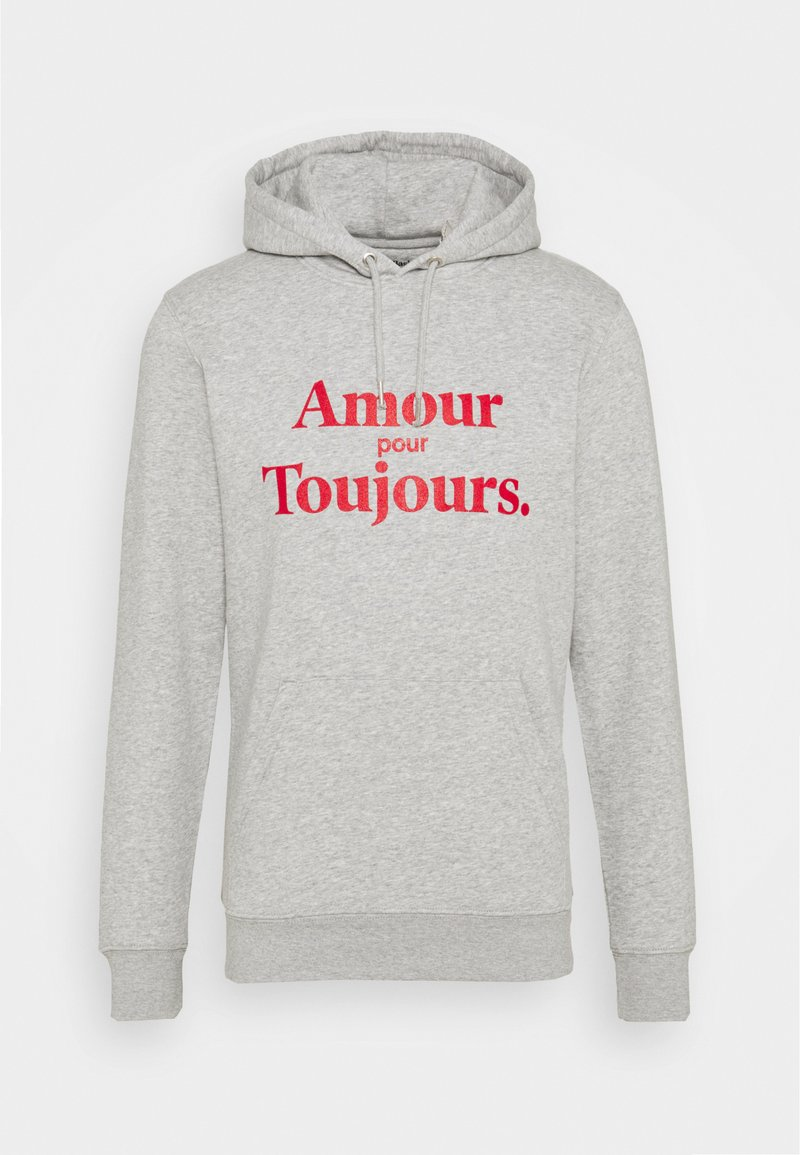 Les Petits Basics - HOODIE AMOUR POUR TOUJOURS - Hoodie - grey/red
