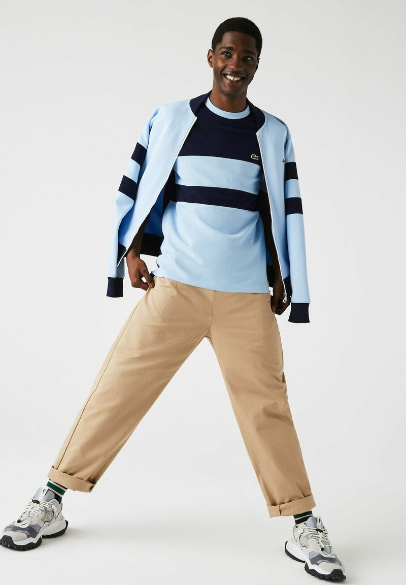 Lacoste - Print T-shirt - bleu marine / bleu clair