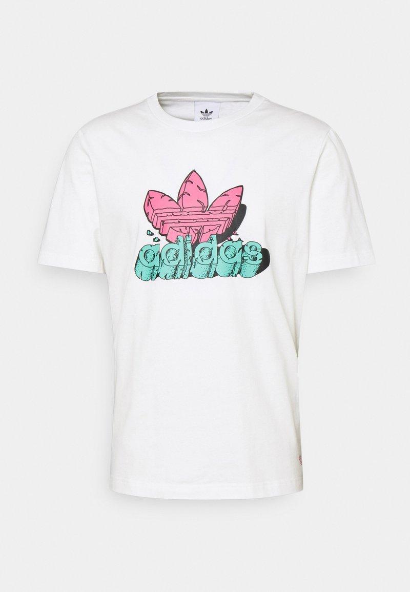 adidas Originals - TEE UNISEX - T-shirt med print - core white