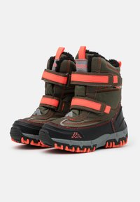 Kappa - BONTE TEX UNISEX - Winter boots - army/coral - 1