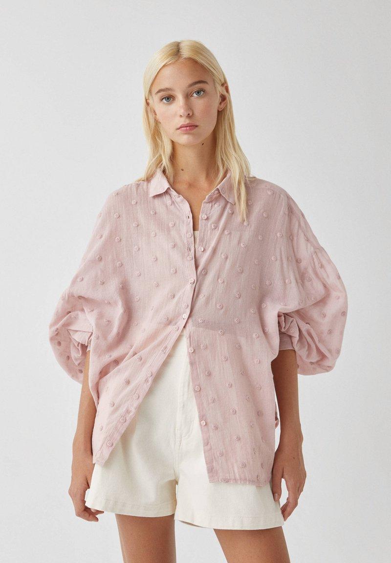 PULL&BEAR - Koszula - pink