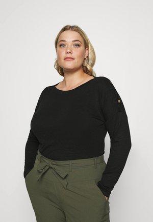 PCNOLLIE O NECK - Long sleeved top - black