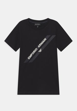 Print T-shirt - dark blue/black