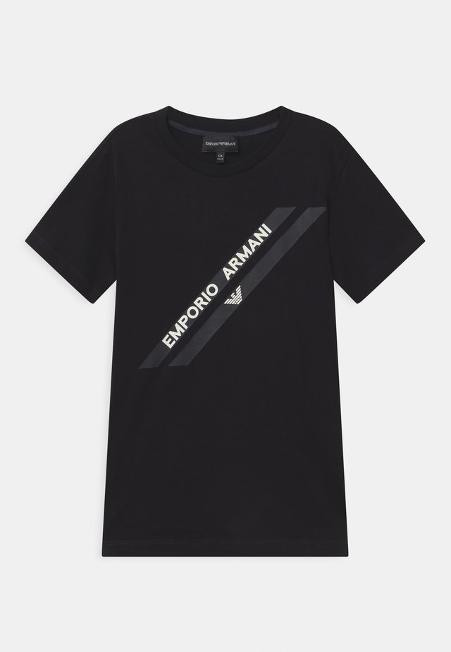 T-shirt print - dark blue/black