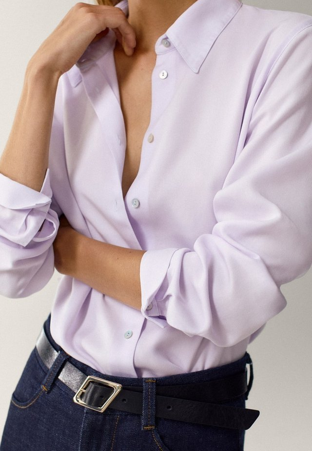 UNIFARBENES - Button-down blouse - neon pink