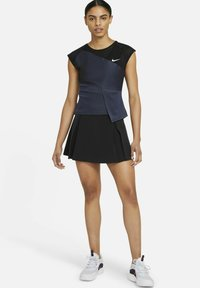Nike Performance - COURT DRI-FIT ADV SLAM TENNISOBERTEIL - Top - black/white - 1